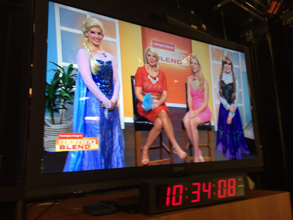 Parties with Character on Tampa Bay's Morning Blend