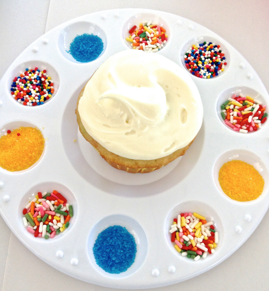 Princess Party Activity - Rapunzel's Cupcake Paint Palette